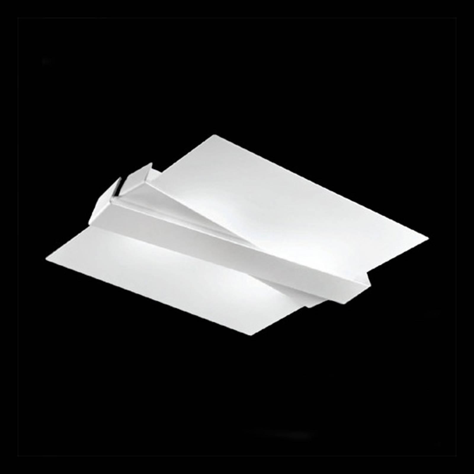 Nowoczesna lampa sufitowa ZIG ZAG biała
