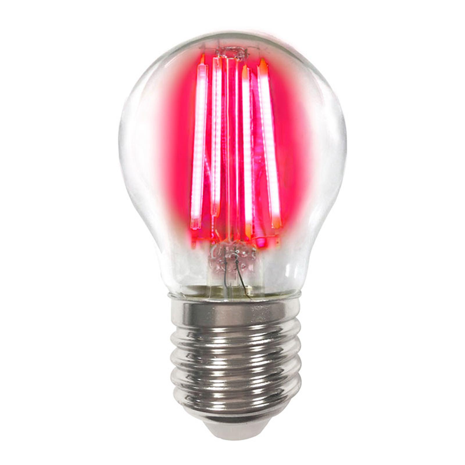 Lampadina LED E27 4W colorata filamenti rosso