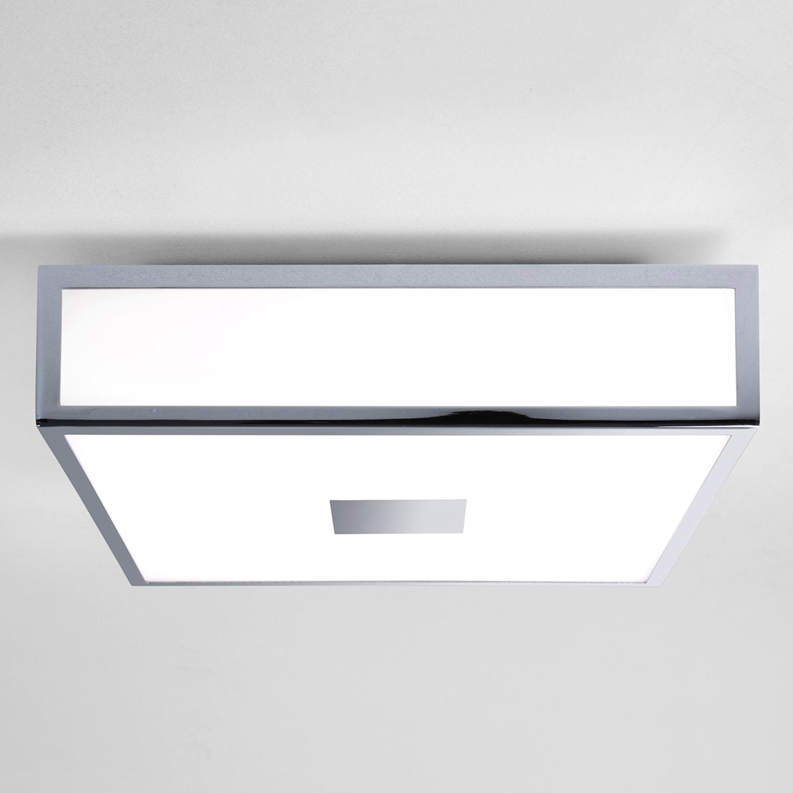 Hoekige LED plafondlamp Mashiko met IP44