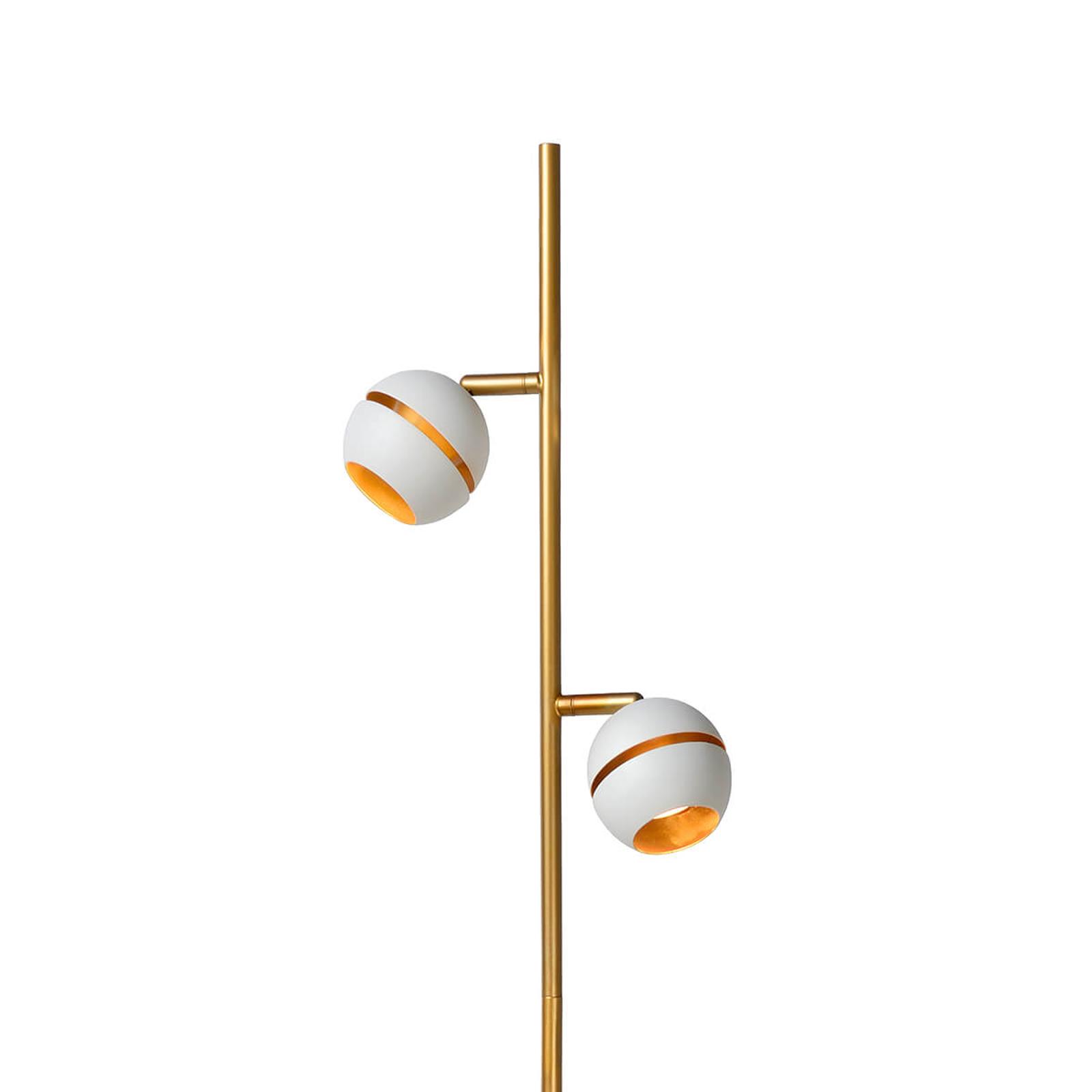 Niezwykła lampa stojąca LED Binari 2-pkt., biała