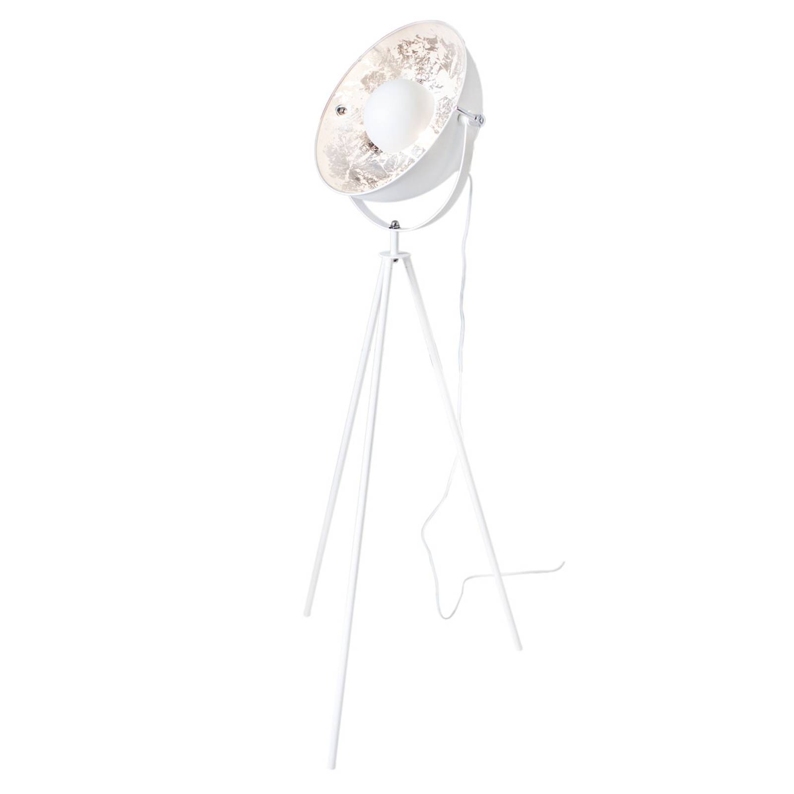 By Rydéns Captain Mini vloerlamp, wit zilver