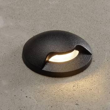 Innbyggingslampe Teresa 1L svart/frost 3000K