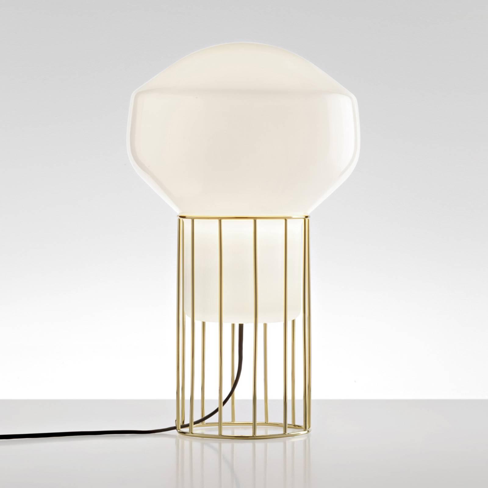 Lampe à poser design Aérostat, pied laiton, 23cm