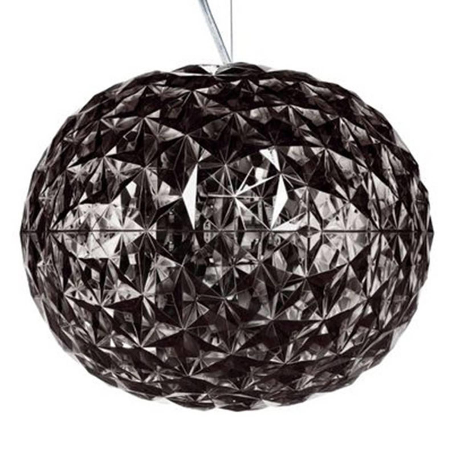 Suspension LED de designer gris fumée Planet