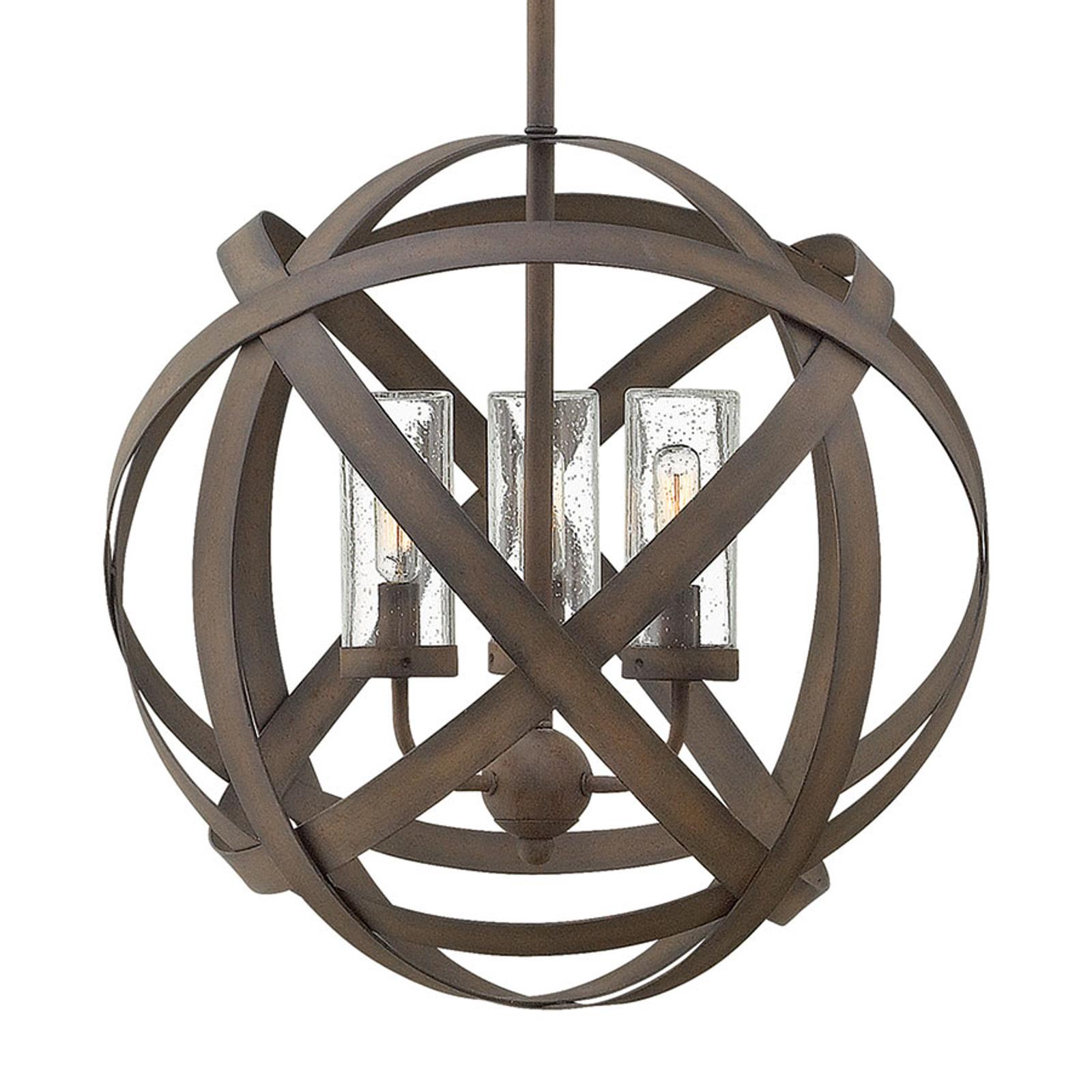 Carson – ręcznie kuta zewnętrzna lampa wisząca