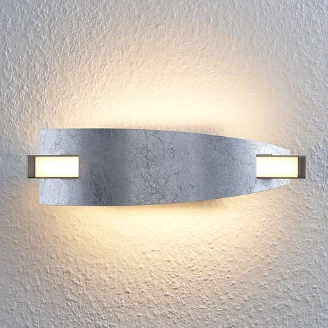 LED nástěnné světlo Marija, stříbrná úprava
