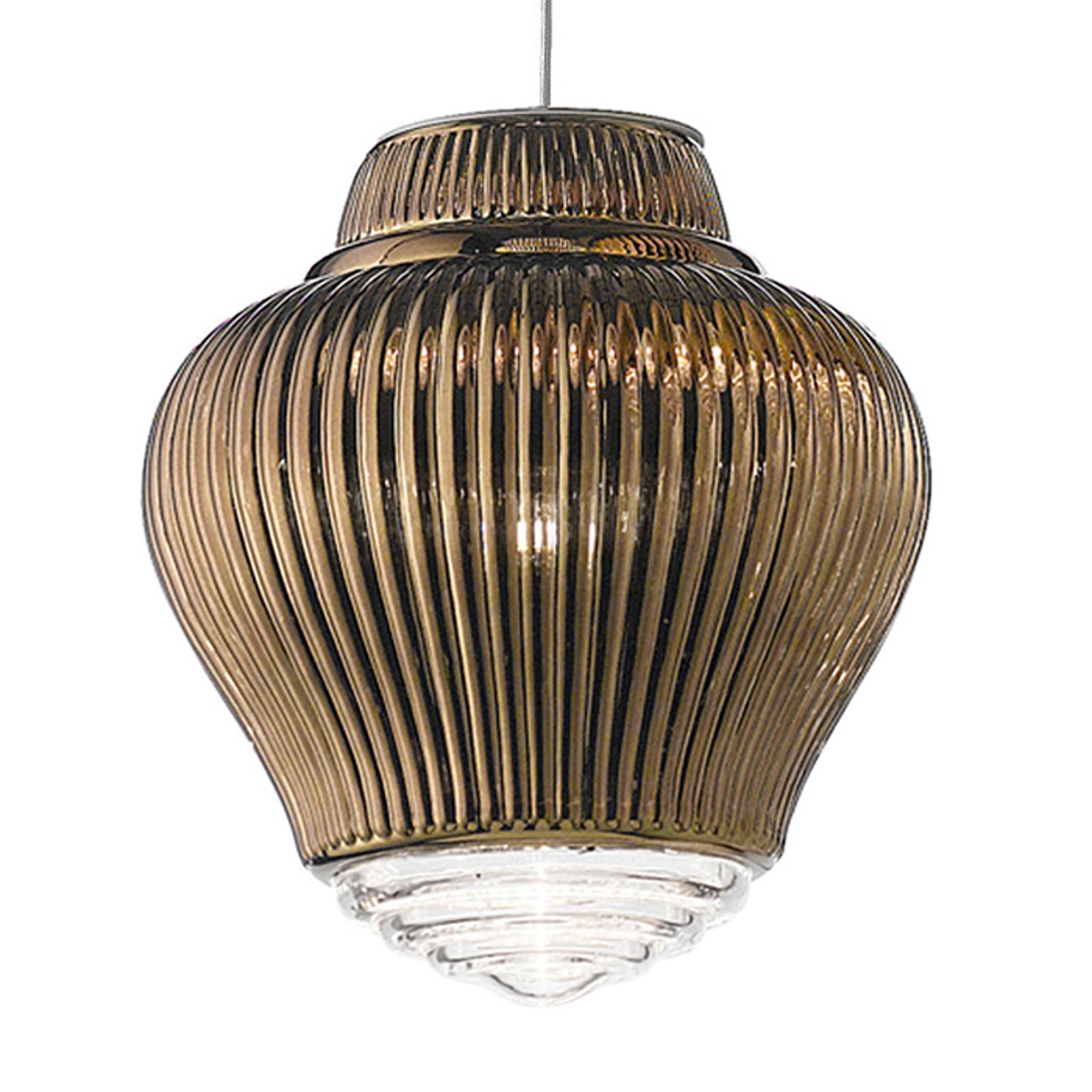Závěsné světlo Clyde 130 cm bronzová metalíza