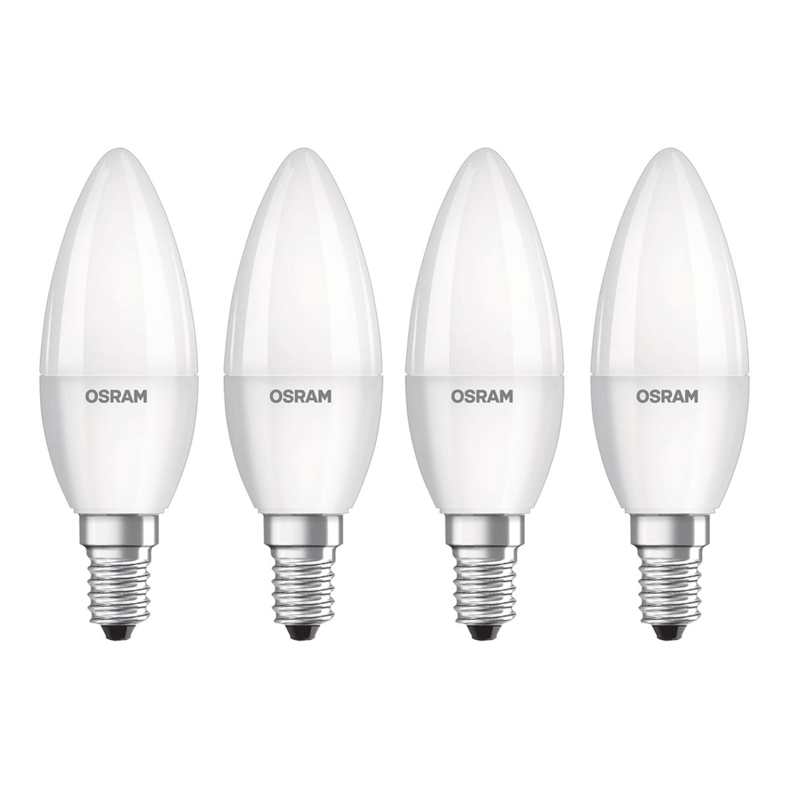 OSRAM LED-Kerze E14 Base Retro 5,7W 4er 4.000K