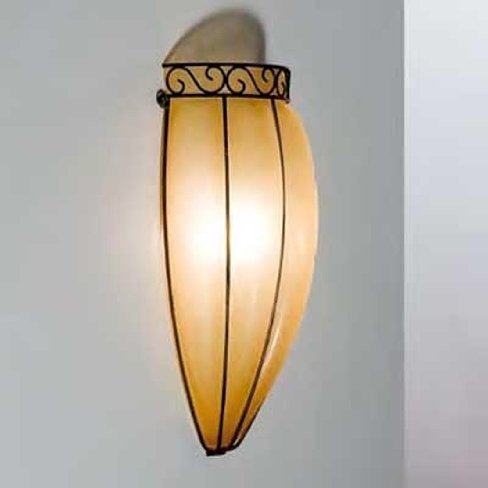 Antiek ogende wandlamp TULIPANO