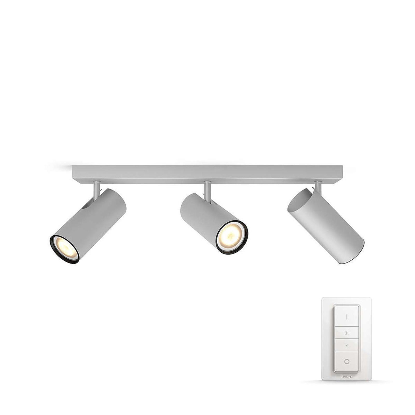 Philips Hue Buratto LED-spot alu 3 lysk. dimmer