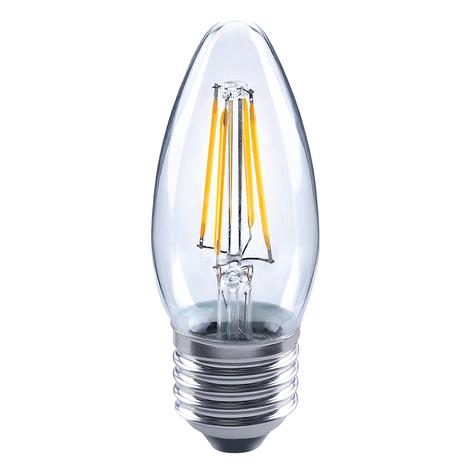 Lampadina a filamenti LED a candela 827 E27 4W