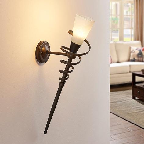 Tjark - torcia LED da parete color ruggine