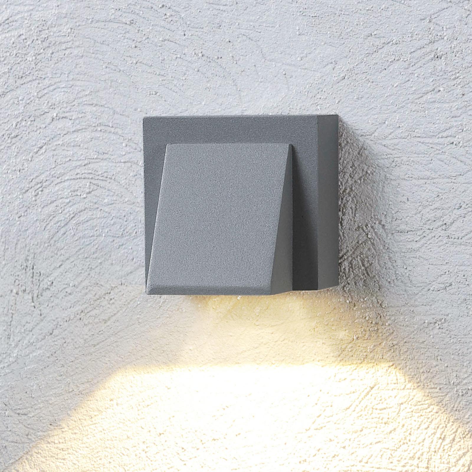 Sølvgrå LED-utevegglys Marik