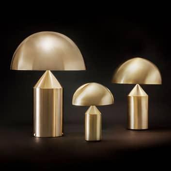 Oluce Atollo -designerska lampa stołowa ściemniana