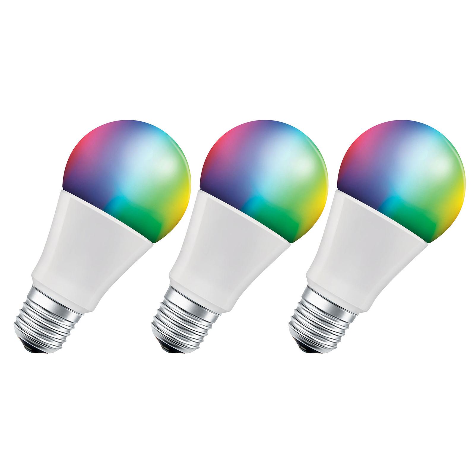 LEDVANCE SMART+ WiFi E27 9,5W Classic RGBW 3er
