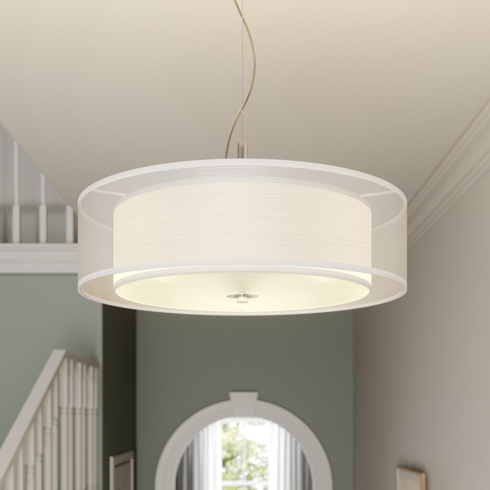 Textilní závěsné světlo Pikka s LED žárovkami E27