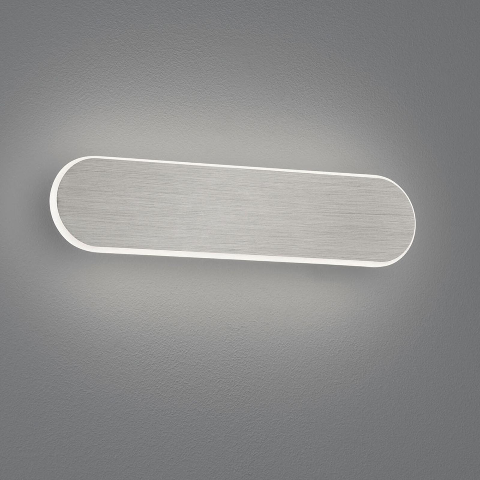 LED-vegglampe Carlo, Switchdim, 35 cm, matt nikkel