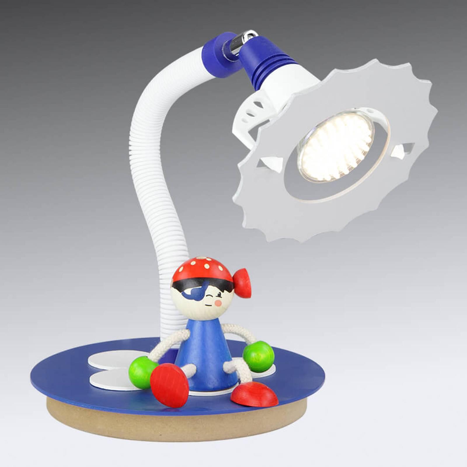 LED tafellamp Piraat met zittende figuur