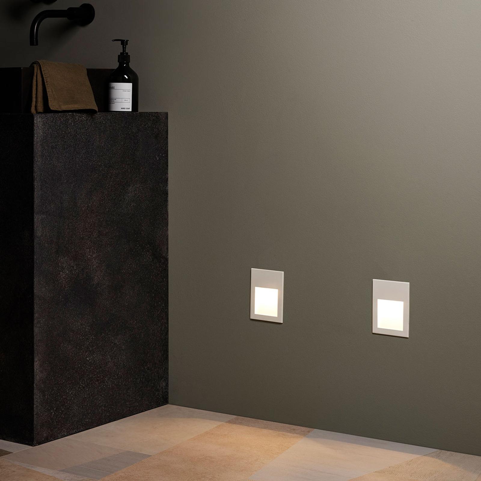 Astro Borgo 90 wand inbouwlamp wit textuur