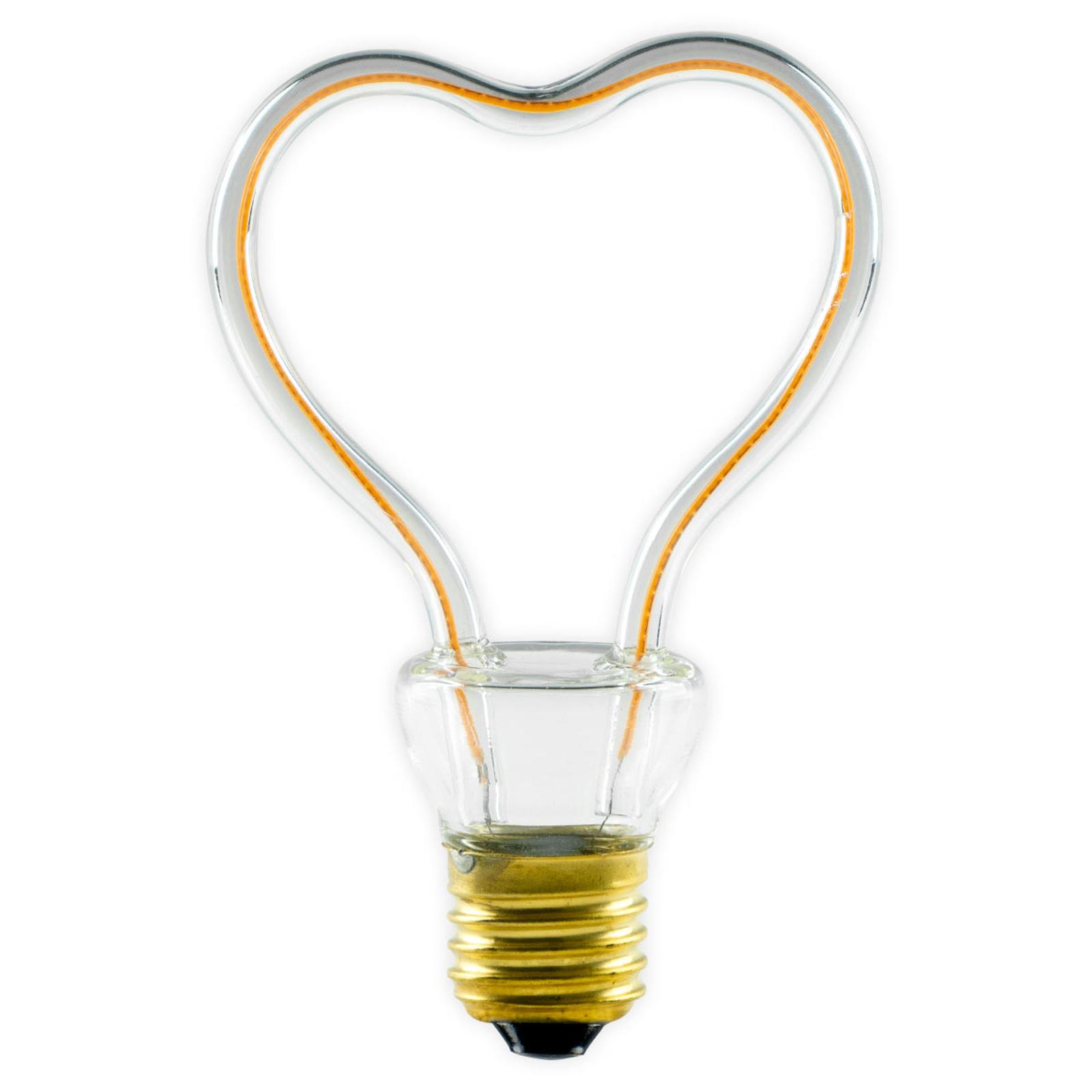 LED-Lampe Art Line Heart E27 8W 330 lm warmweiß
