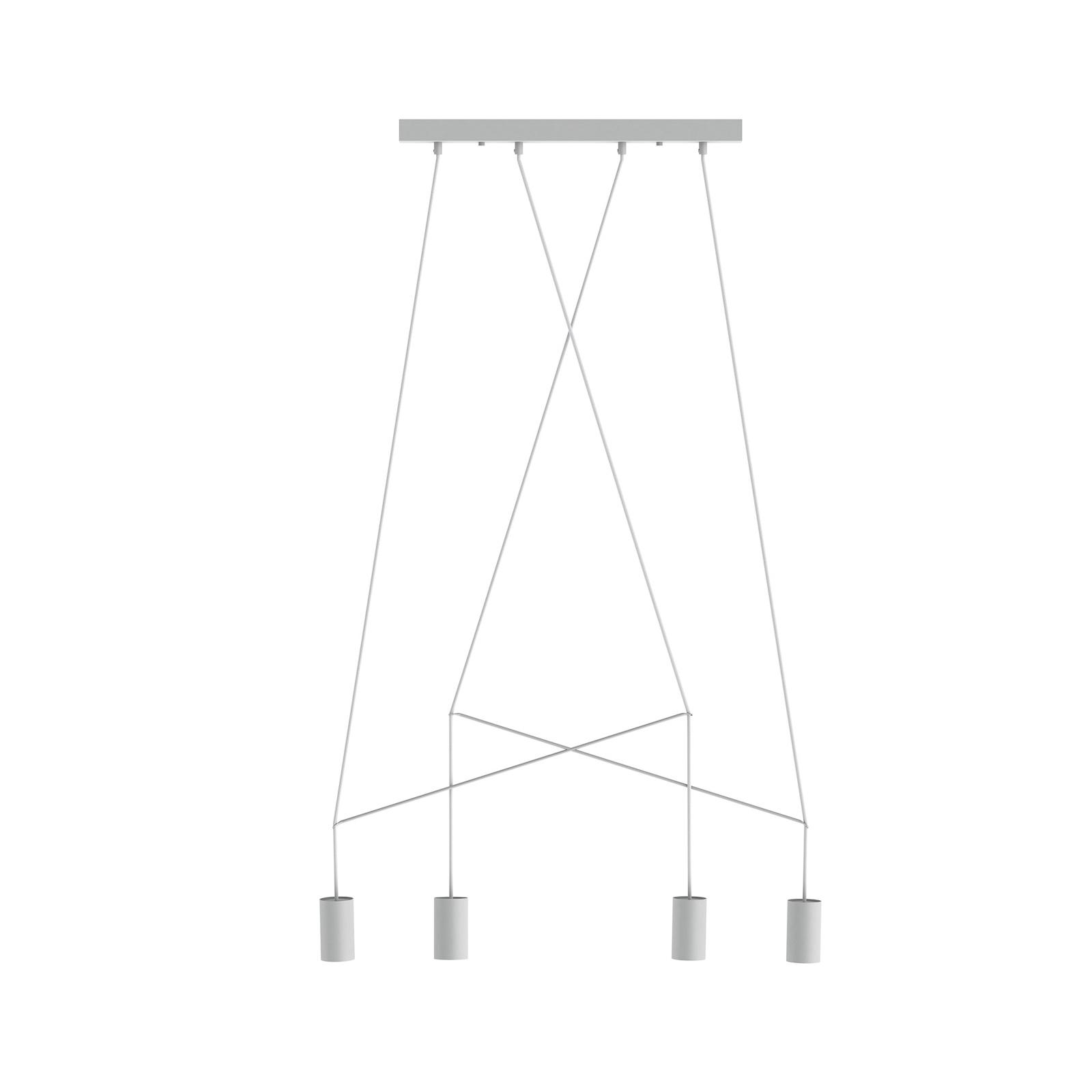 Suspension Imbria, à 4 lampes, blanche