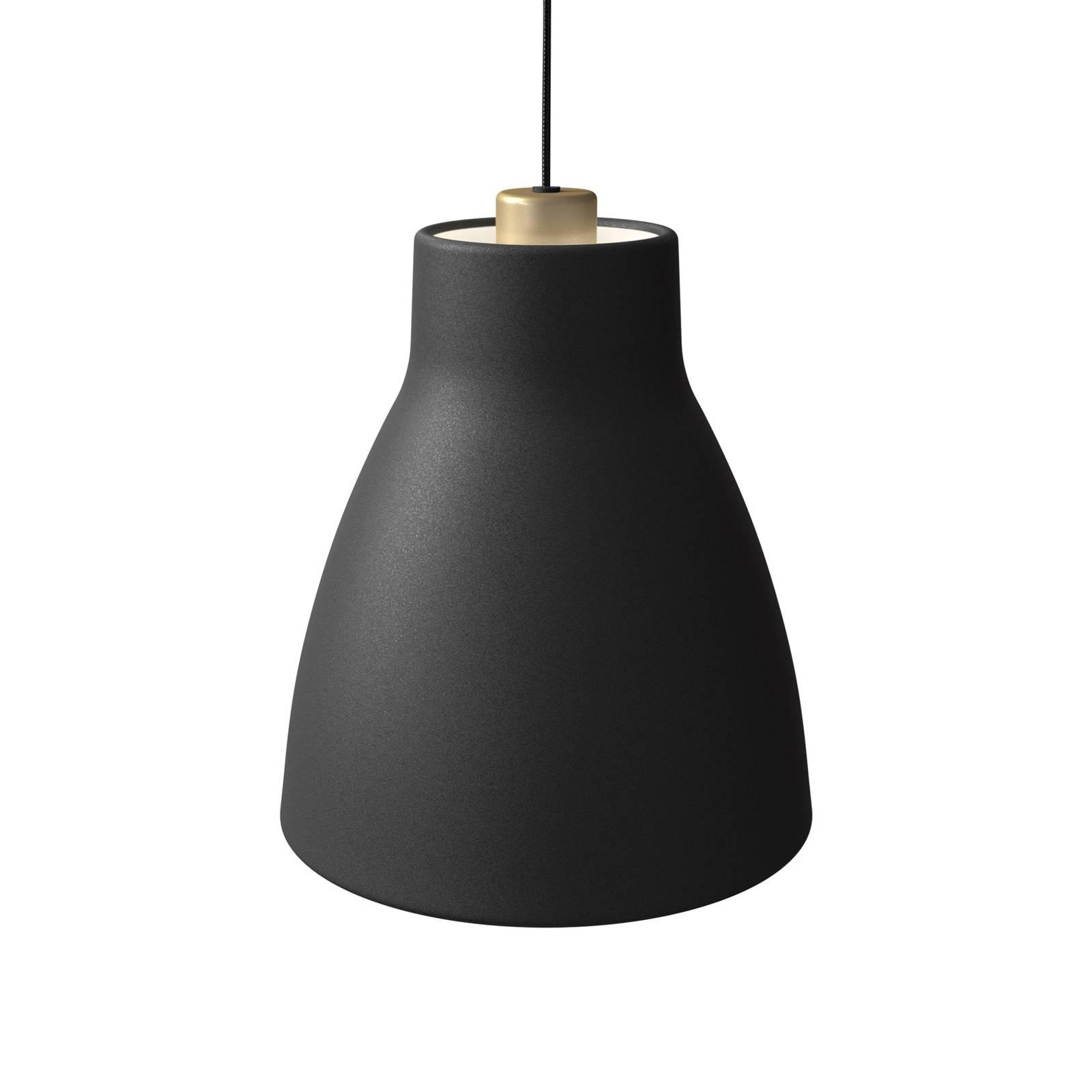 Pendelleuchte Gong, Ø 25 cm, schwarz