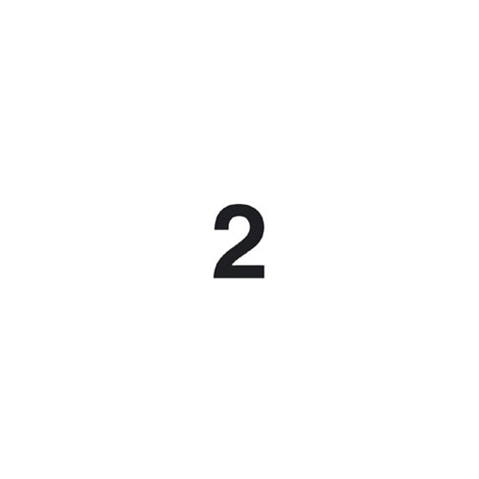 Selbstklebende Ziffer 2