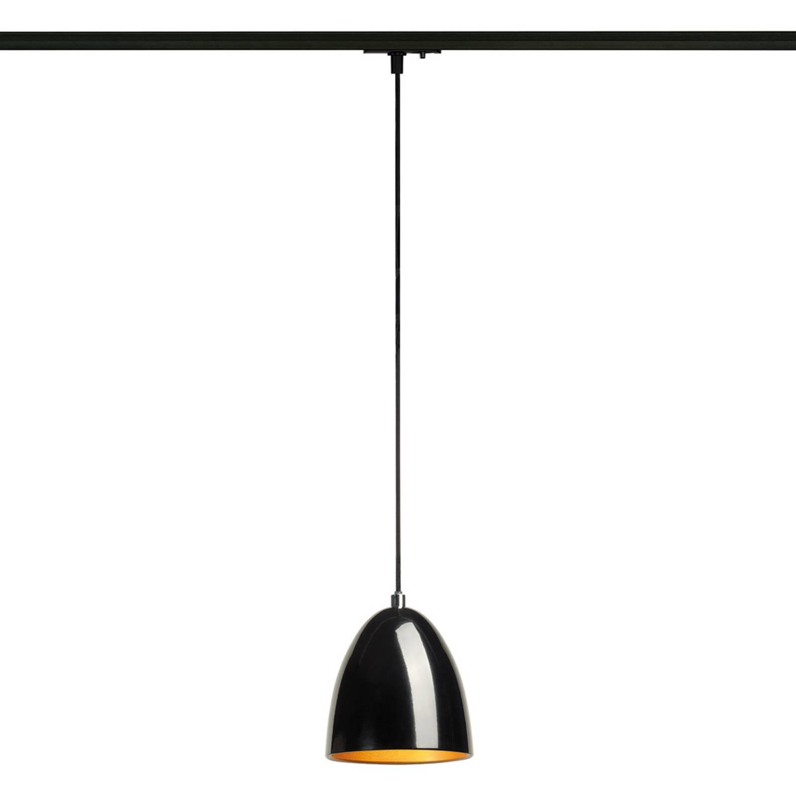 Suspension Para Cone noire/dorée rail monophasé