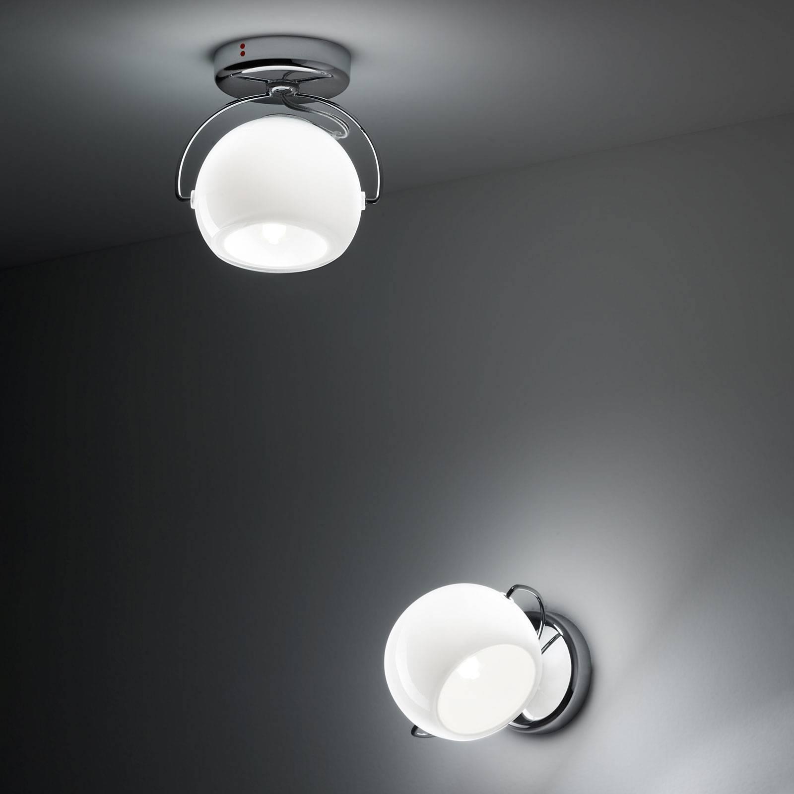 Fabbian Beluga white plafondlamp direct 1-lamp
