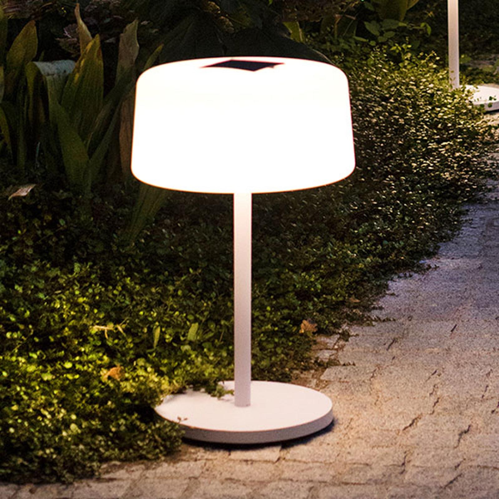 Bump solcelle-gulvlampe, 3 høyder, sensor, hvit