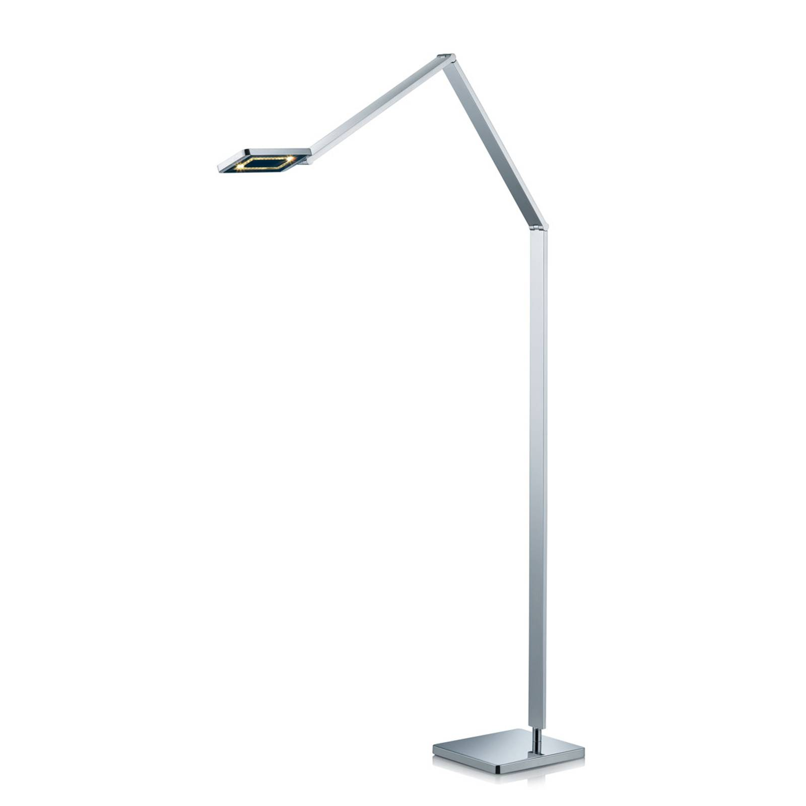 Slanke LED vloerlamp Linus in chroom