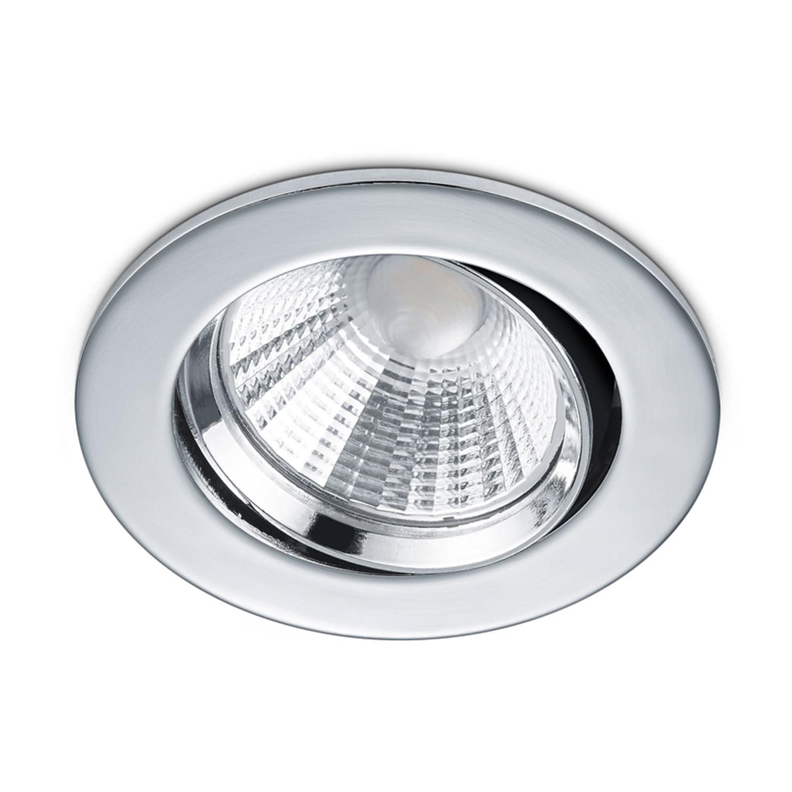 Ronde LED inbouwspot Pamir in chroom