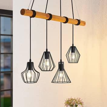 Lindby Samino hanglamp met vier kooikappen