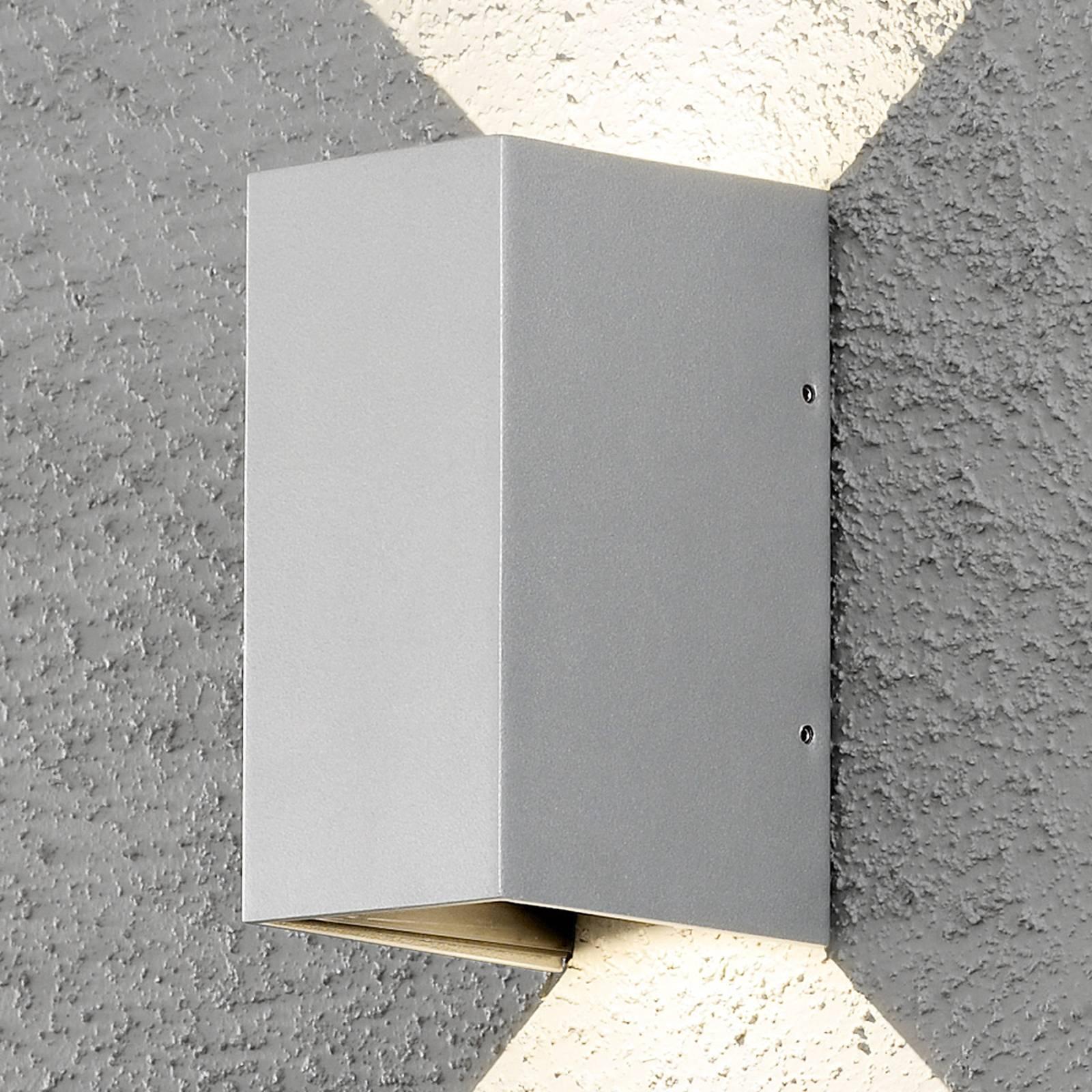 LED buitenwandlamp Cremona 8 cm grijs