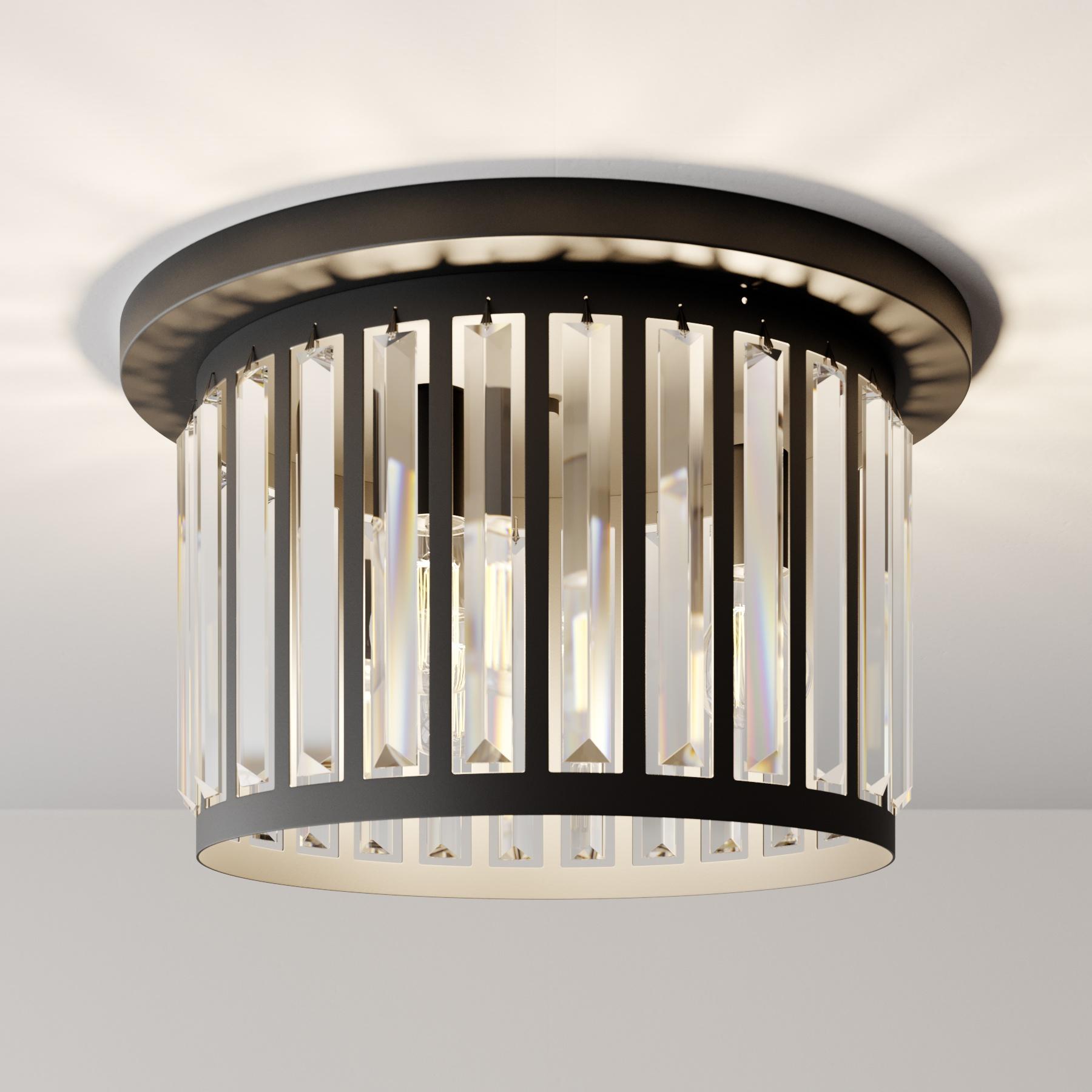 Lampa sufitowa Elevato, Ø 44cm, czarna