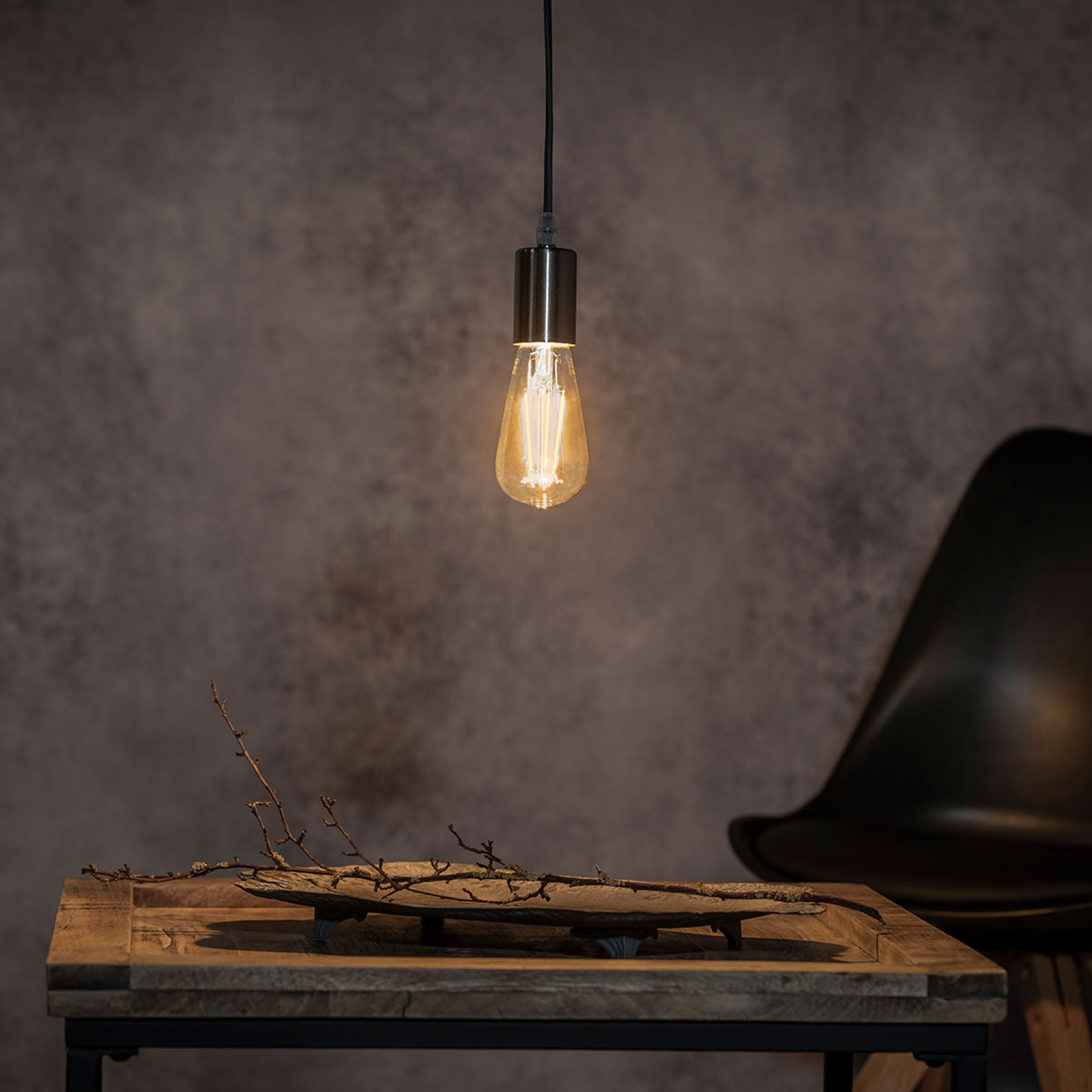 Závěsné svítidlo Haiko, černý kabel