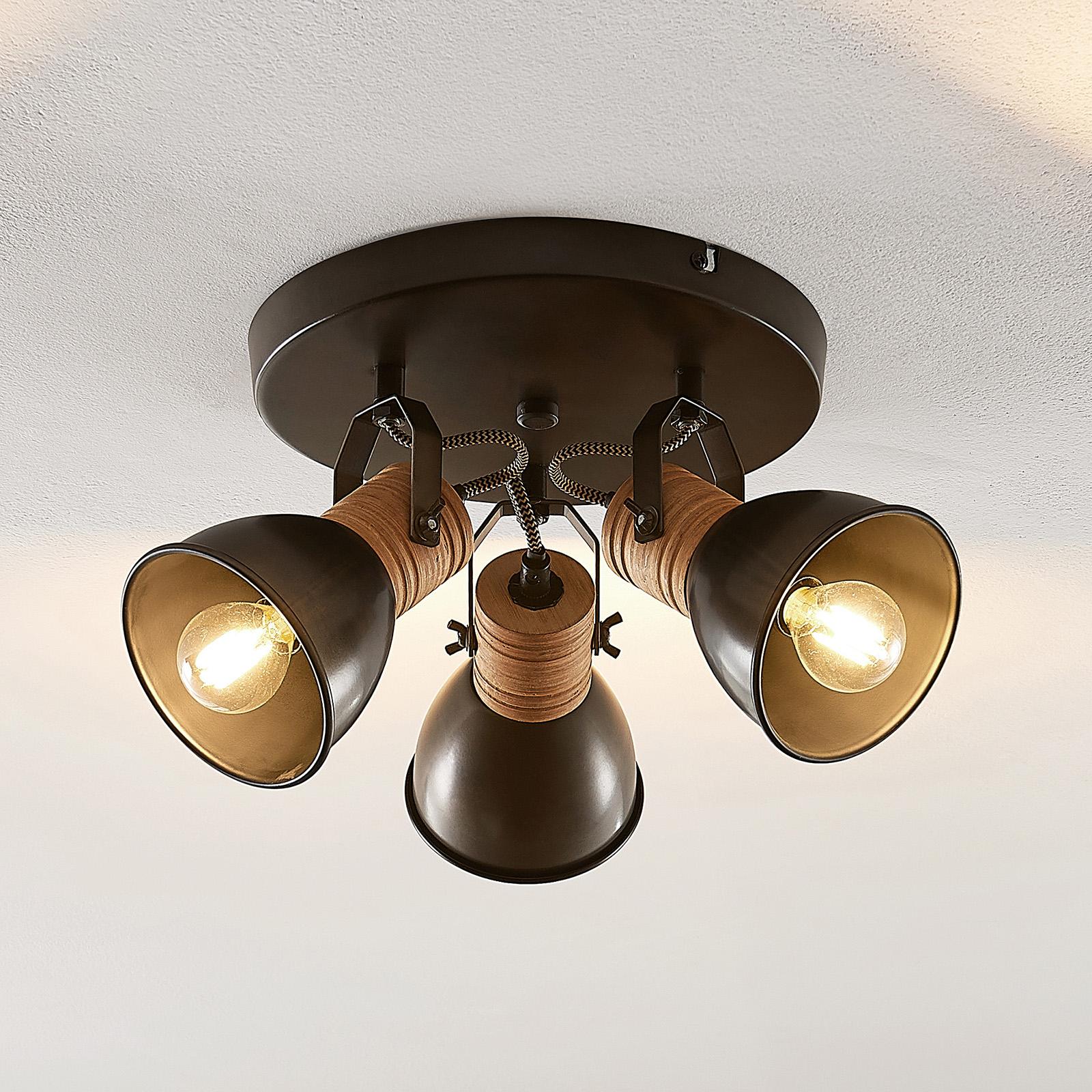 Lindby Arina -spottiplafondi, pyöreä, 3-lampp.