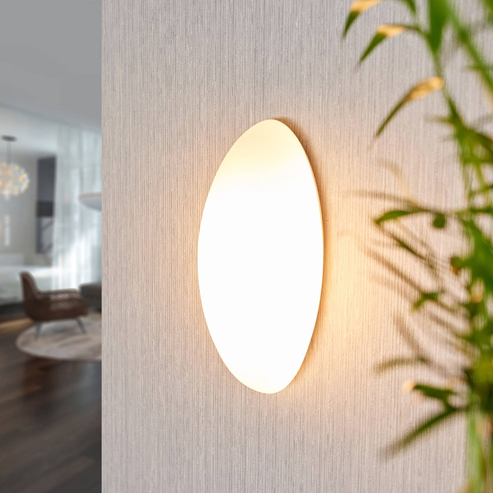 Glazen wandlamp Jemima