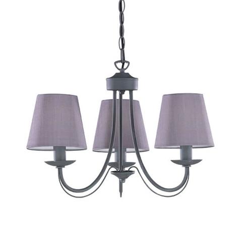 Lámpara de araña Cortez, gris, 3 brazos