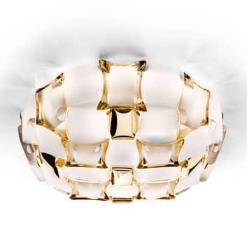 Slamp Mida væglampe, 32x32 cm, guld/hvid