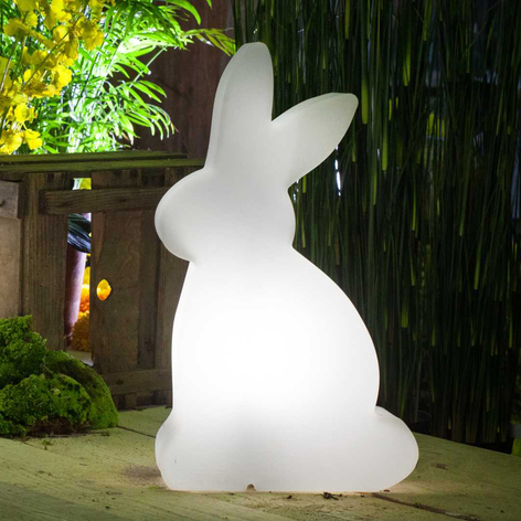 Lampe décorative solaire LED Shining Rabbit 50 cm