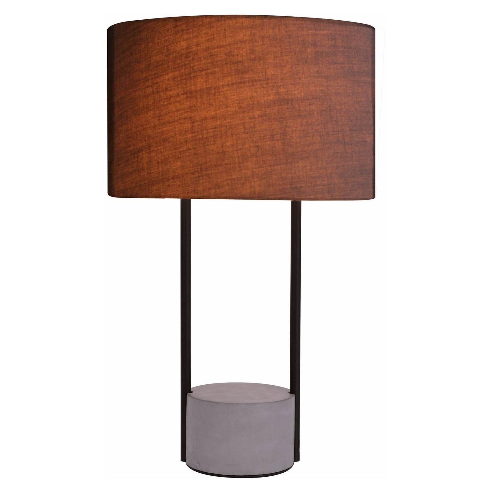 Tafellamp Allegro met stoffen kap, grijs
