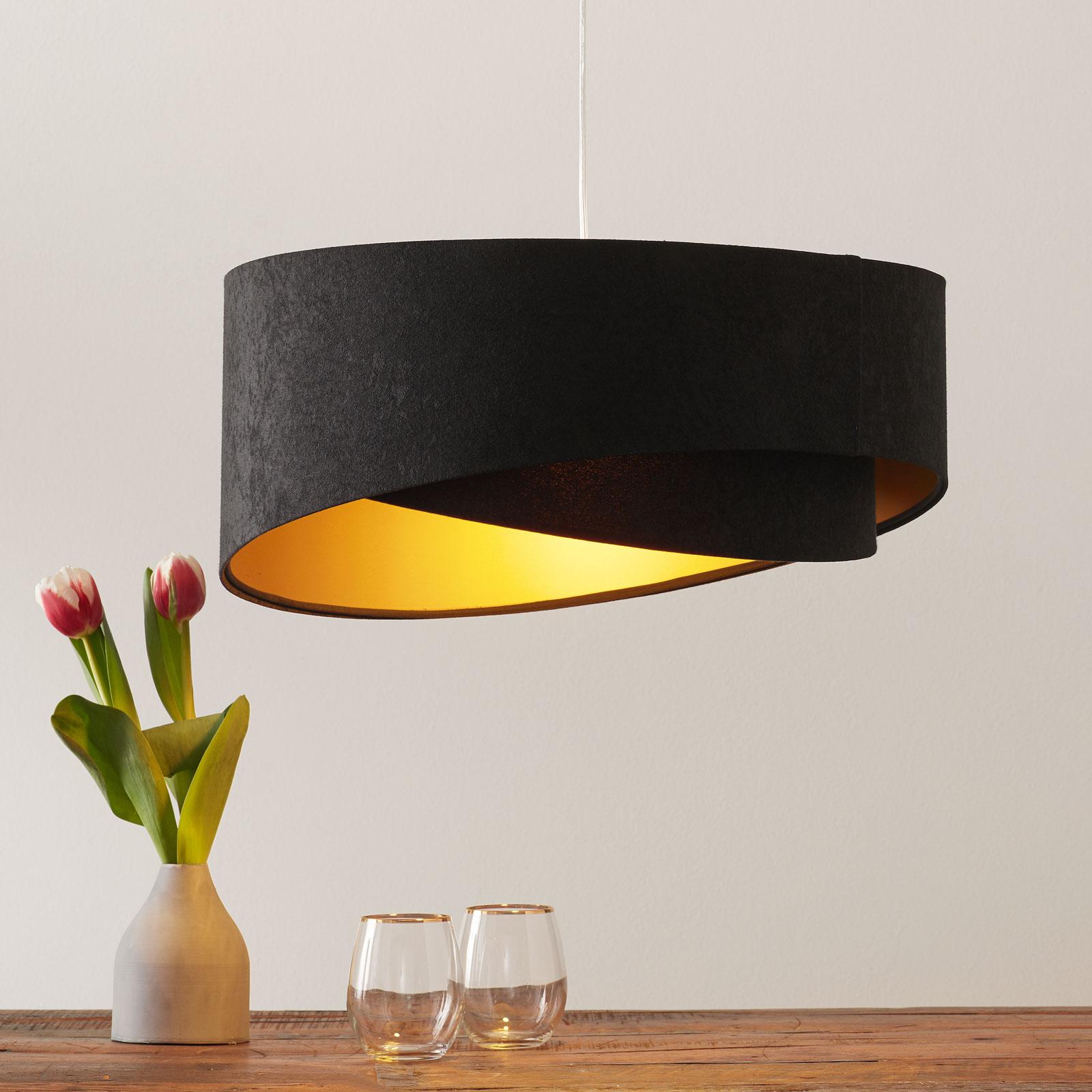 Asymetryczna lampa wisząca Emi 2-kolorowa