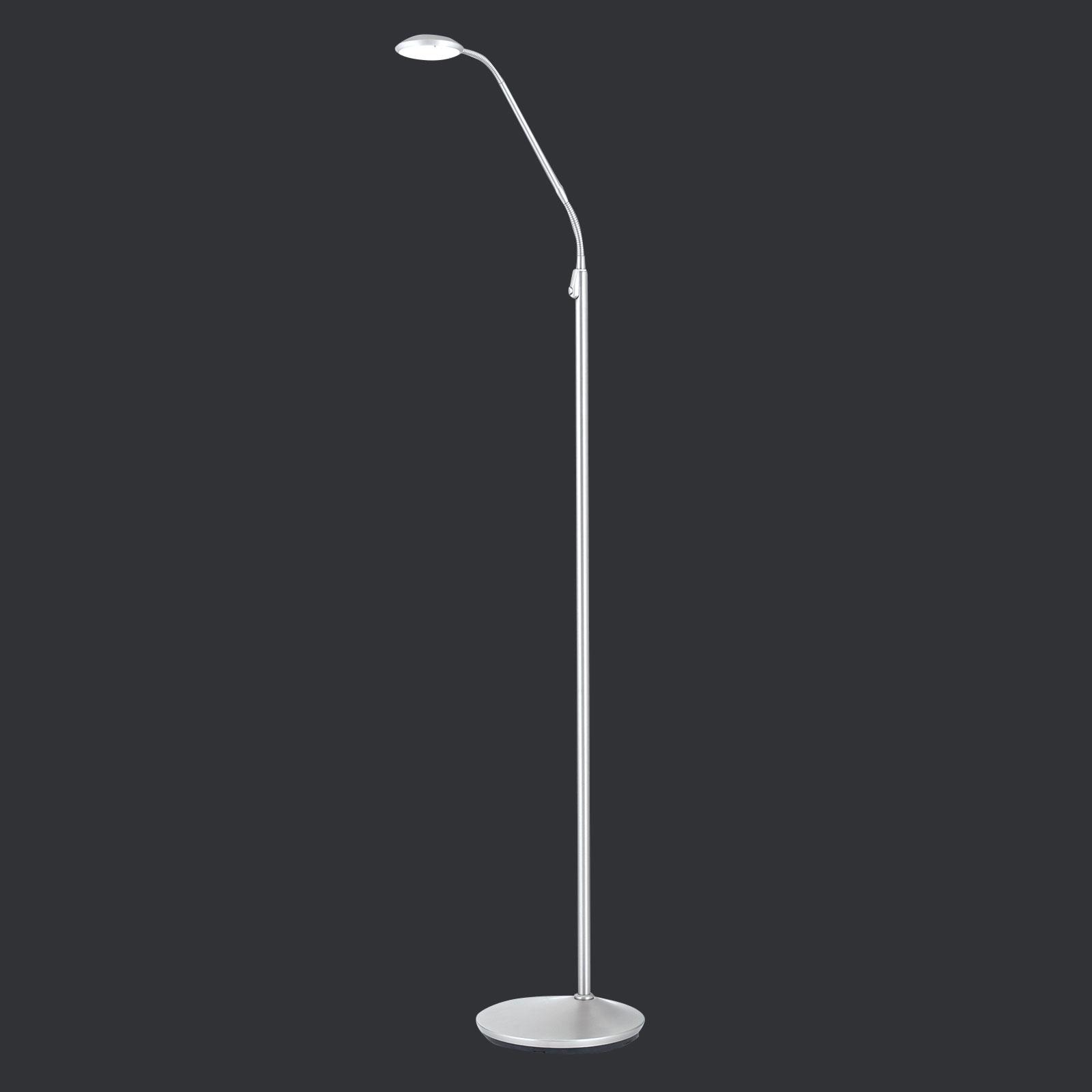 Niklowana lampa stojąca LED Cobra 1-punktowa