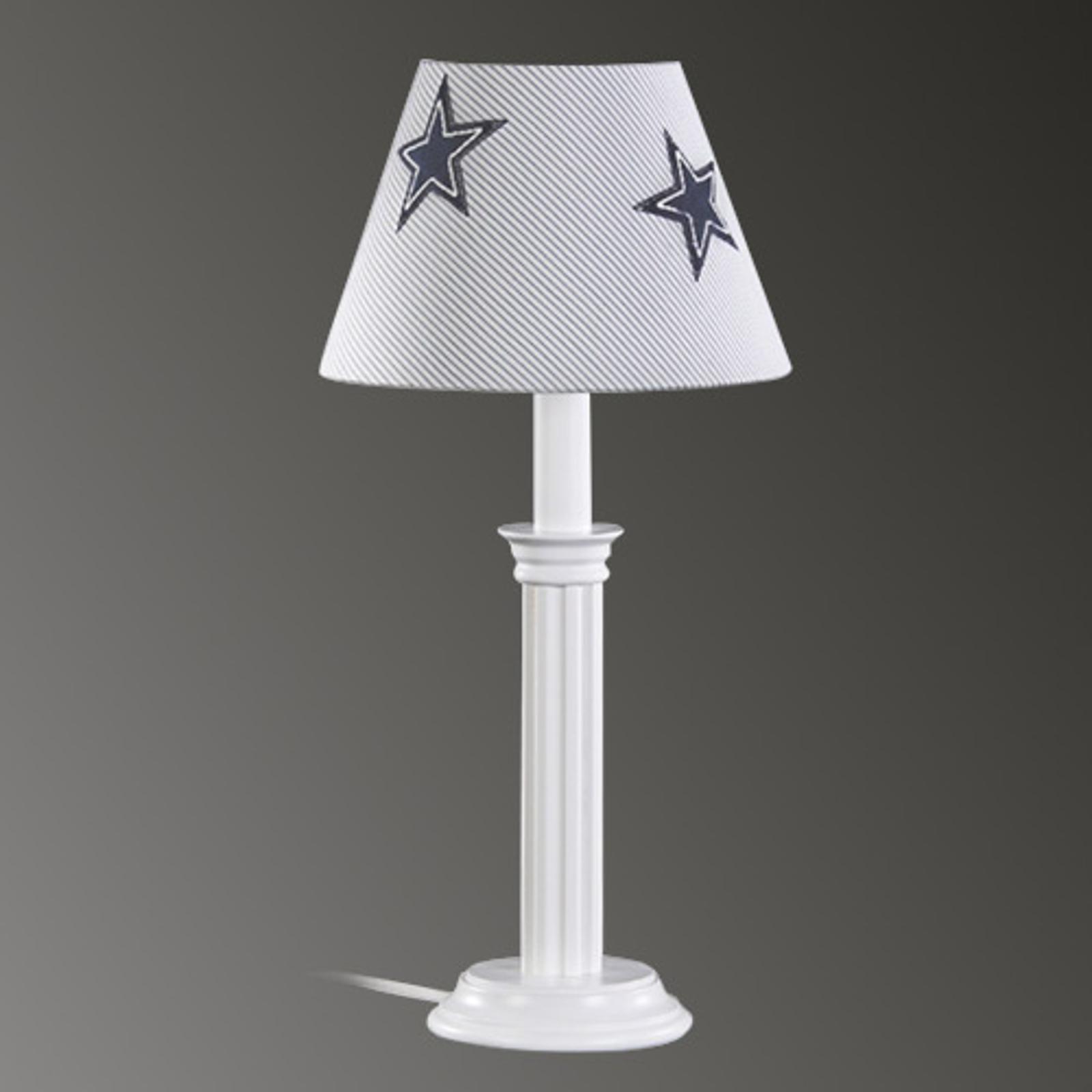 Lampe à poser chambre d'enfant Denim avec étoiles