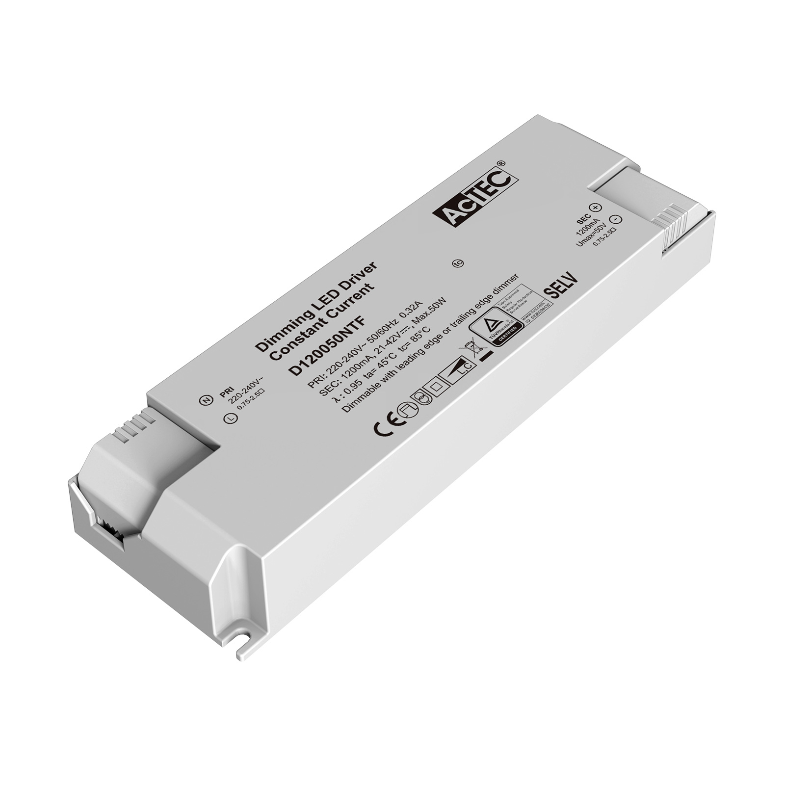 AcTEC Triac LED-driver CC maks. 50W 1200mA