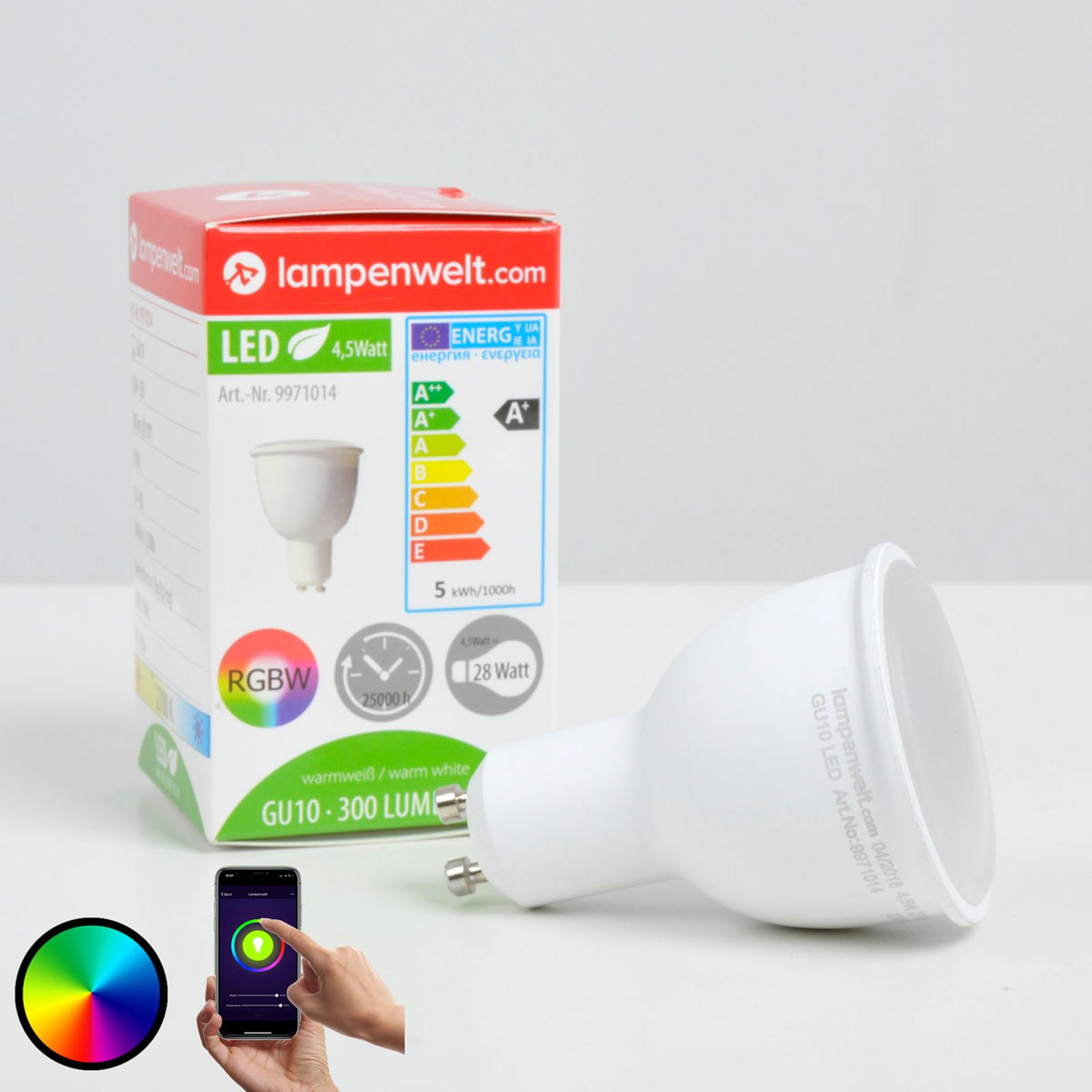 Lindby Smart réflecteur LED 110° GU10 4,5 W, RVB