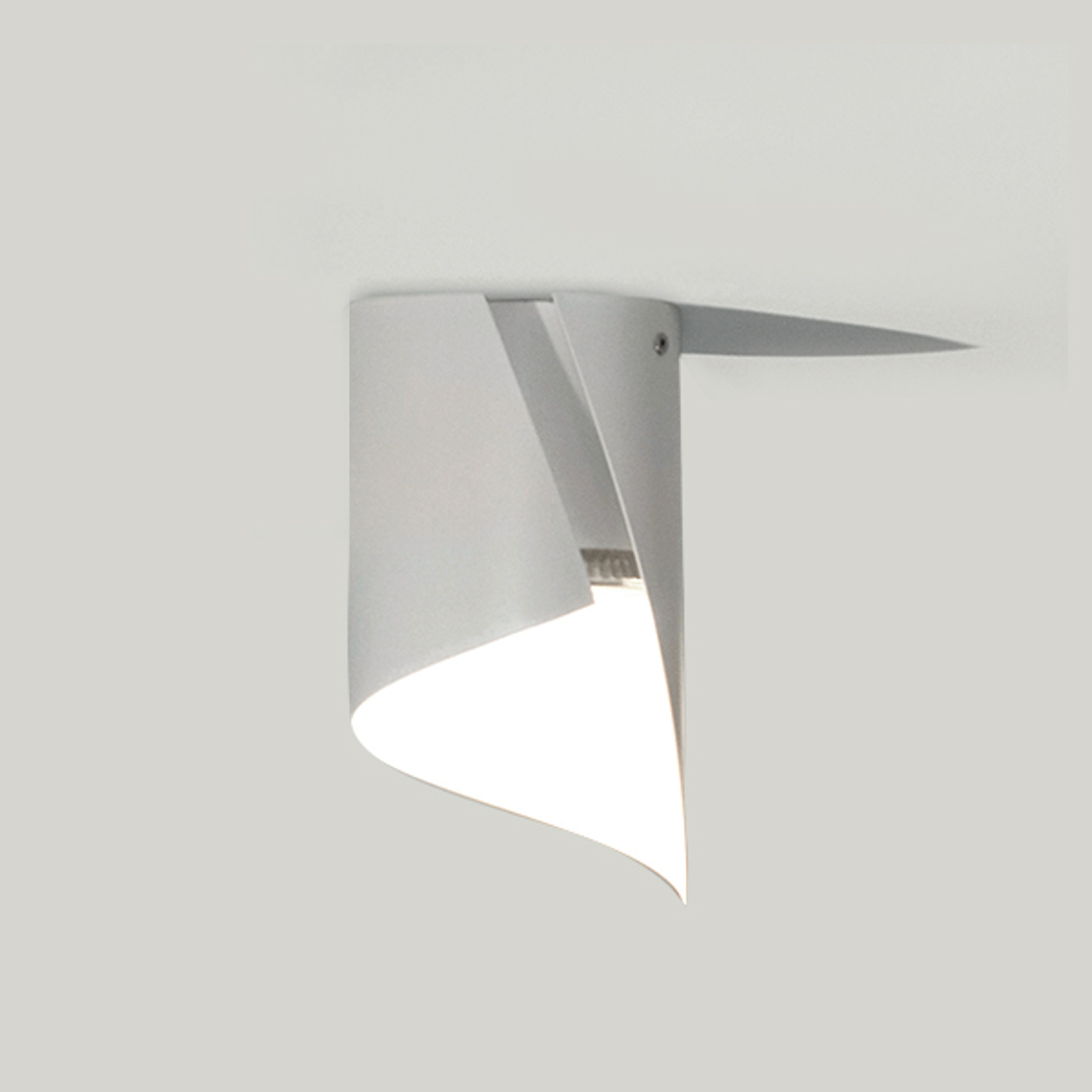 Knikerboker Hué lampa sufitowa LED 12x21cm biała