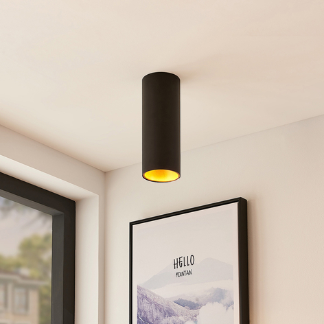 Arcchio Hinka stropní světlo kulaté, 25,4 cm černé