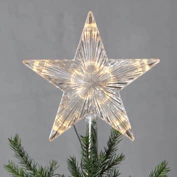 Pointe de sapin LED Topsy étoile mat. synthétique